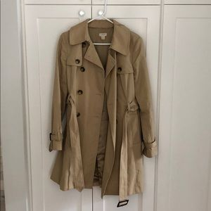 GUC J. Crew trench coat, size 6
